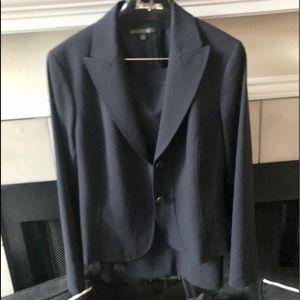 Lafayette 148 New York Navy Career Skirt Suit 10
